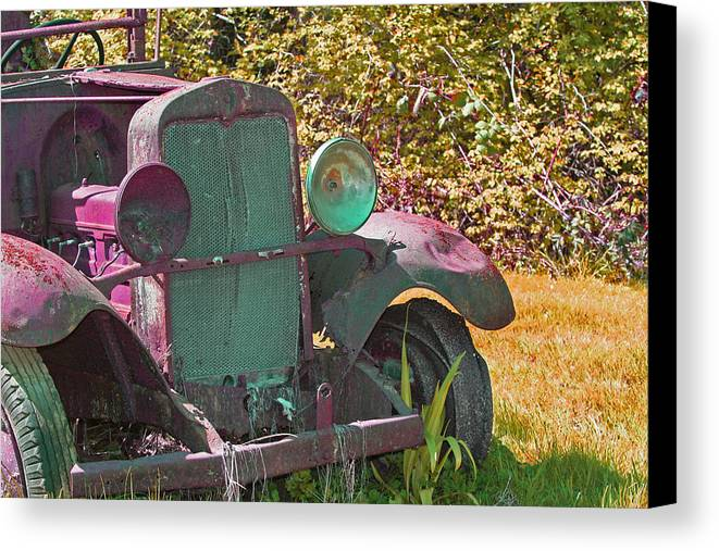 Old Truck Canvas Print featuring the photograph Old Rusty Truck C1002 by Mary Gaines