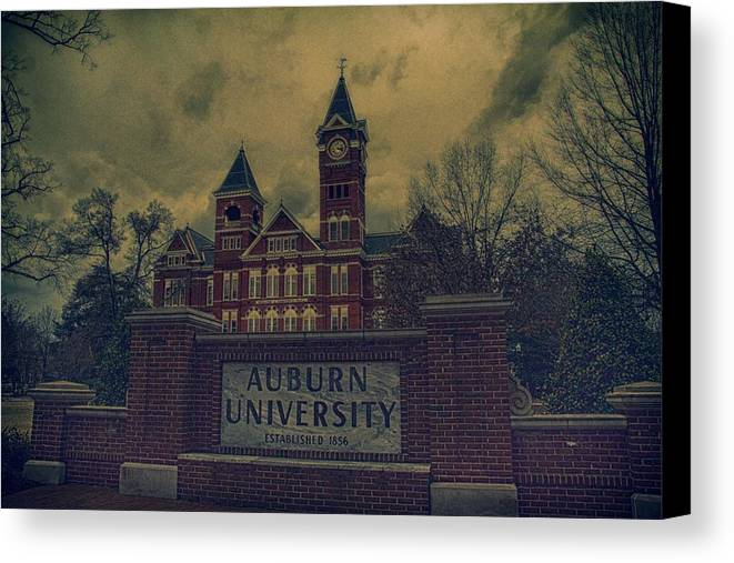 Auburn Canvas Print featuring the photograph Old Time Samford Hall by Jake Jenkins