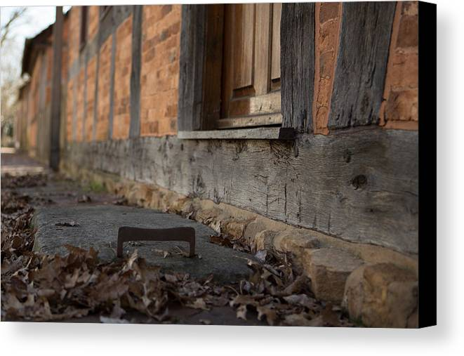 Canvas Print featuring the photograph Old Winston Boot Scrape by Perry Rider