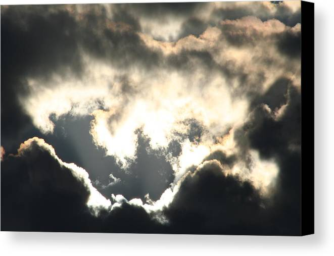 Ominous Sky Before A Storm Canvas Print featuring the photograph Ominous by David Barker