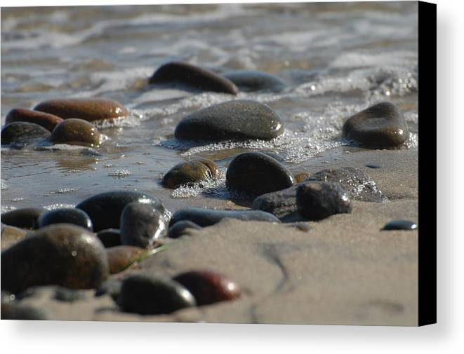 Shore Canvas Print featuring the photograph On The Beach by Jean Booth