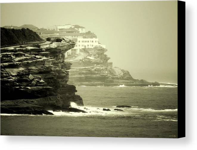 Landscapes Canvas Print featuring the photograph On The Rugged Cliffs by Holly Kempe