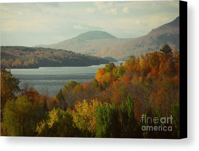 Trees Canvas Print featuring the painting On The Way To Fall by Rod Jellison
