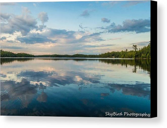 Lake Onaping Canvas Print featuring the photograph Onaping Reflections by Megan Miller