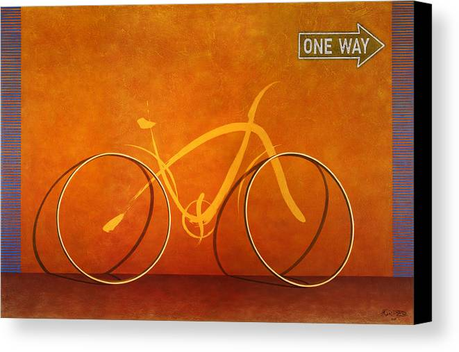 Canvas Print featuring the painting One Way 2 by Horacio Cardozo