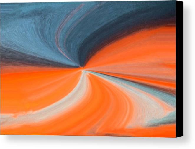 Orange Canvas Print featuring the photograph Orange And Blue Art by Cynthia Guinn
