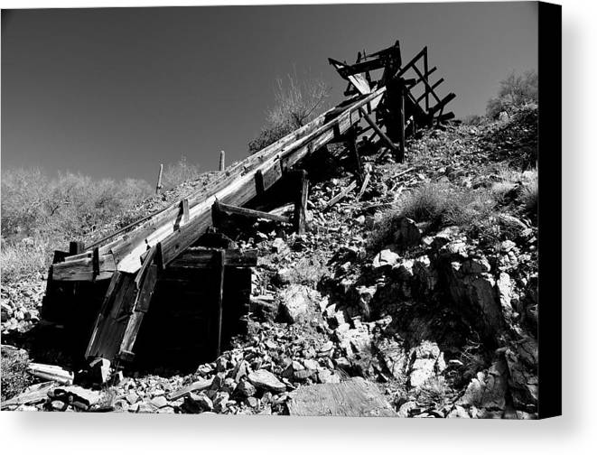 Arizona Desert Photography Canvas Print featuring the photograph Ore Chute by John Gee