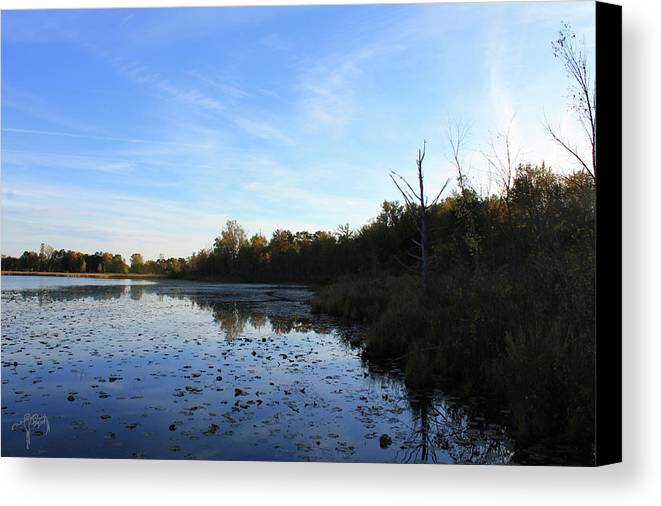 Lake Canvas Print featuring the photograph Orion's Lake At Sunset by Catalina Diaz