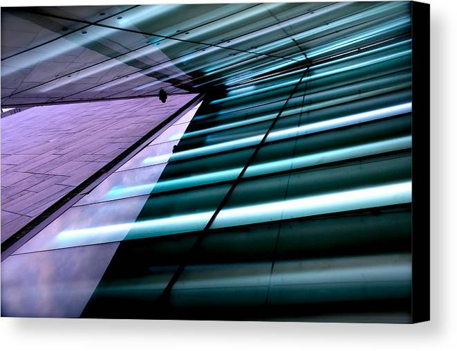 Abstract Canvas Print featuring the photograph Oslo Opera House Norway 211 by Per Lidvall
