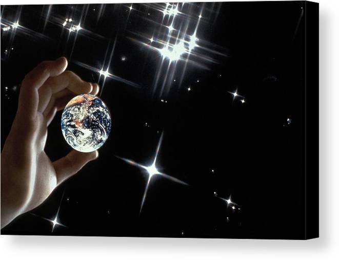 Stars Canvas Print featuring the photograph Our Precious Planet by Carl Purcell