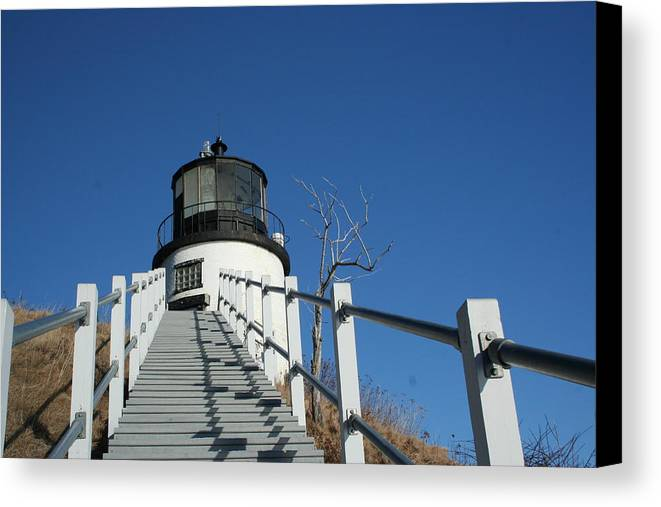 Landscape Canvas Print featuring the photograph Owls Head Lighthouse Winter by Doug Mills