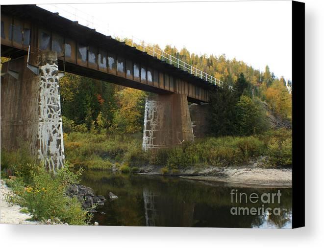 Bridge Canvas Print featuring the photograph Pack River Bridge by Idaho Scenic Images Linda Lantzy