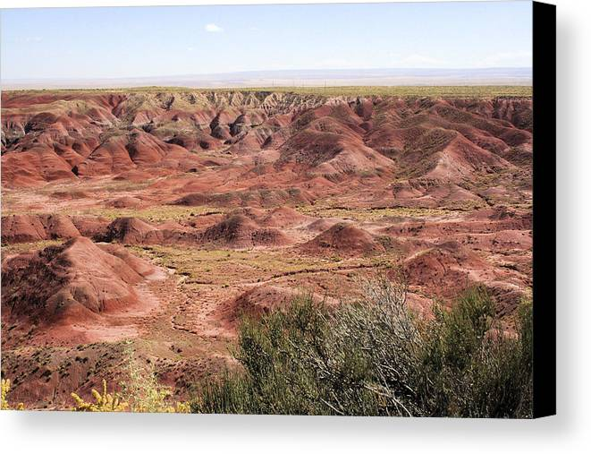 Photography Canvas Print featuring the photograph Painted Desert 0249 by Sharon Broucek