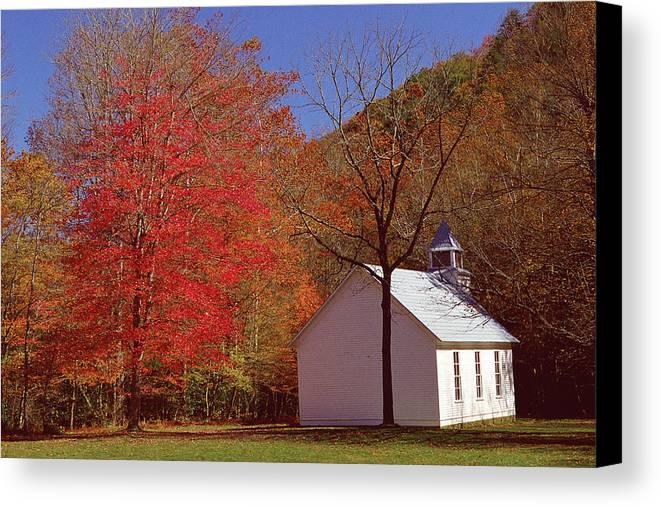 Church Canvas Print featuring the photograph Palmer Chapel by Alan Lenk