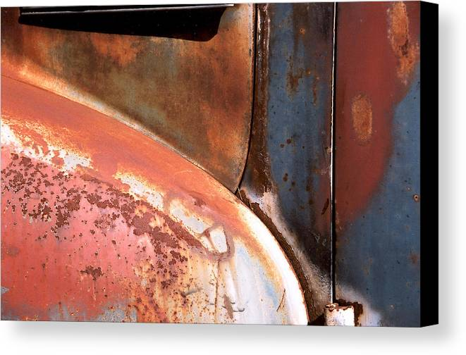 Abstract Canvas Print featuring the photograph Panel From Ole Bill by Steve Karol