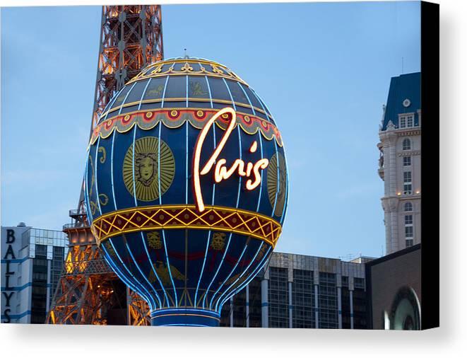 Canvas Print featuring the photograph Paris-eifel Tower-las Vegas by Neil Doren