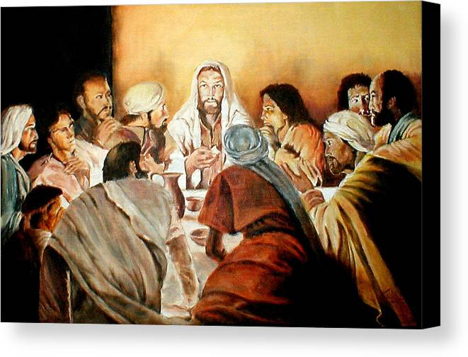 Christ Canvas Print featuring the painting Passover by G Cuffia