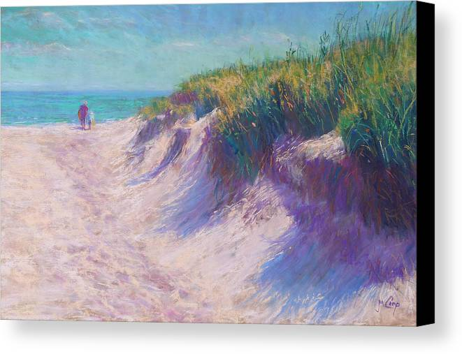 Pastel Canvas Print featuring the painting Past The Dunes by Michael Camp