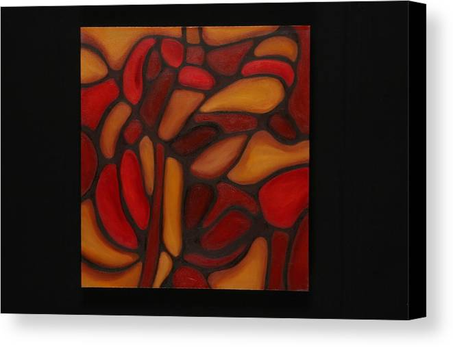 Abstract Canvas Print featuring the painting Pattern 1 by Mary Silver