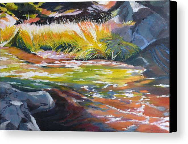 Original Canvas Print featuring the painting Paulina Creek by Melody Cleary