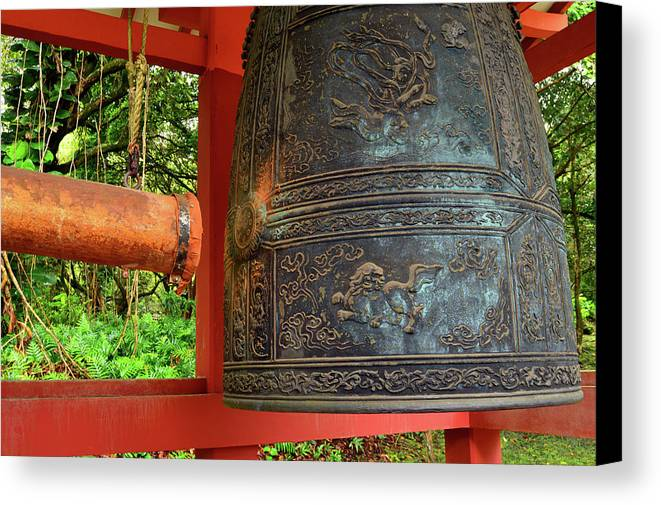 Valley Canvas Print featuring the photograph Peace Bell by James Kirkikis