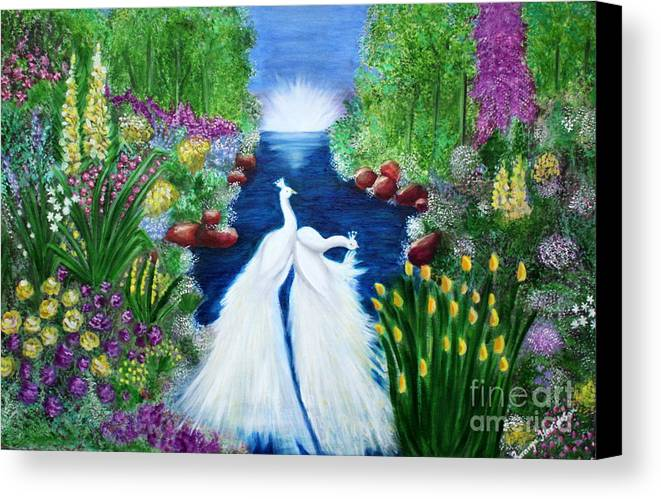 Peace Canvas Print featuring the painting Peace by Saranya Haridasan