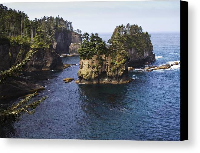 Chad Davis Canvas Print featuring the photograph Peninsula Point by Chad Davis