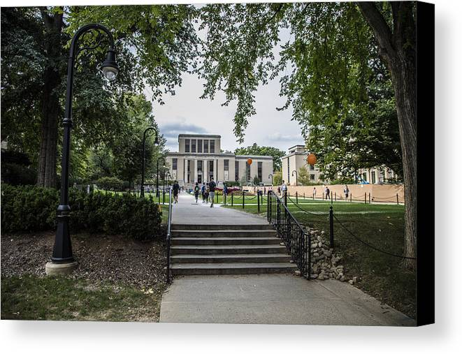Penn State Canvas Print featuring the photograph Penn State Library by John McGraw