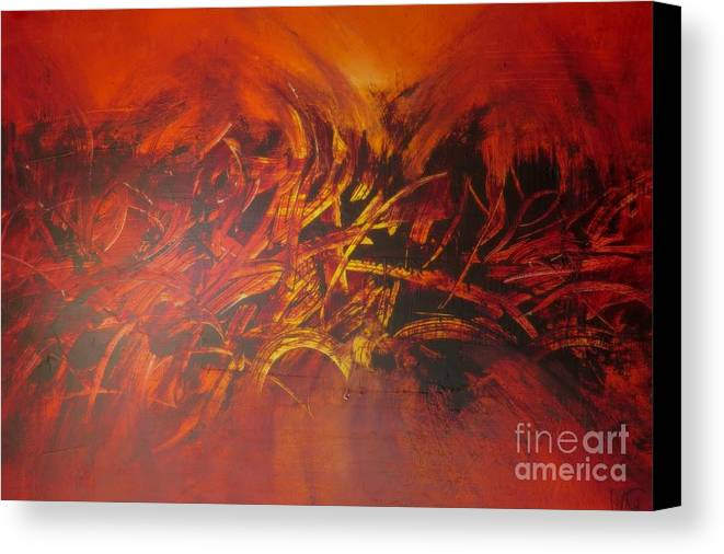 Abstrac Art Canvas Print featuring the painting Perfect Love Casts Out Fear by Lalo Gutierrez