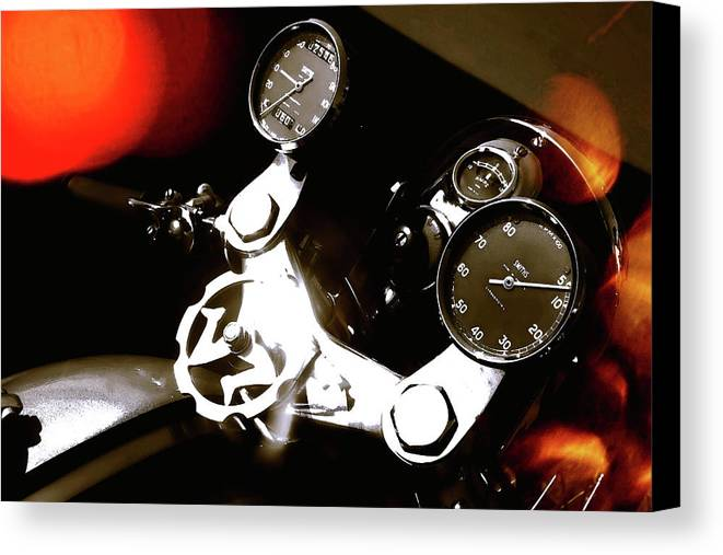 Motorcycle Canvas Print featuring the photograph Perfect Pair by Daniel Gundlach