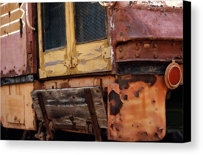 Trolly Canvas Print featuring the photograph Perris Trolley by Lawrence Costales