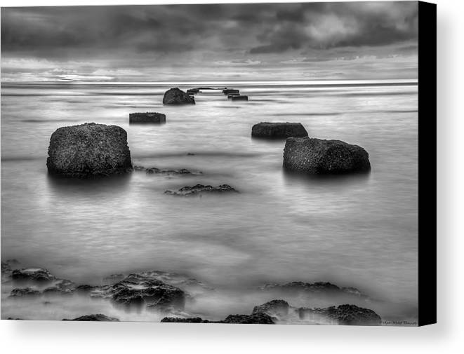 Landscape Canvas Print featuring the photograph Phantom Pier by Ryan Wyckoff
