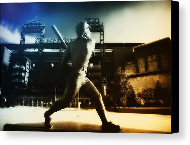 Philadelphia Canvas Print featuring the photograph Philadelphia Phillie Mike Schmidt by Bill Cannon