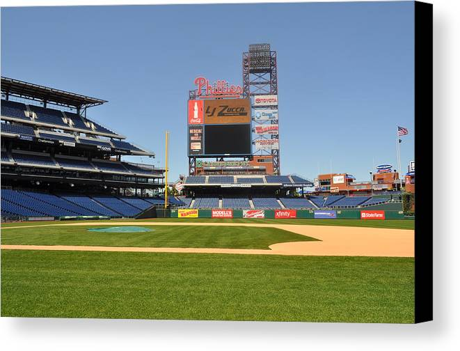 Philadelphia Phillies Canvas Print featuring the photograph Philadelphia Phillies Stadium by Brynn Ditsche