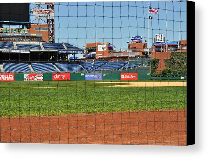 Philadelphia Canvas Print featuring the photograph Phillies by Brynn Ditsche