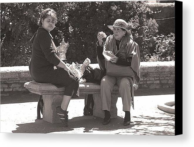 Jez C Self Canvas Print featuring the photograph Picnic Lunch by Jez C Self