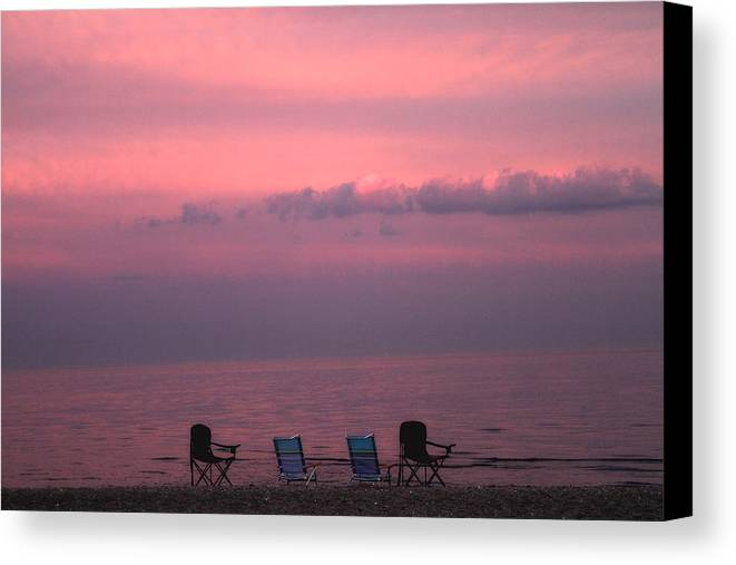 Coastal Canvas Print featuring the photograph Pink And Deserted by Karol Livote