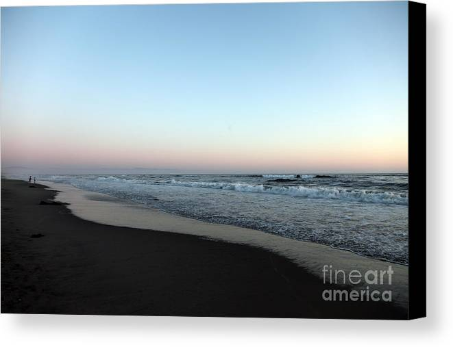 Beaches Canvas Print featuring the photograph Pink Skyline by Amanda Barcon