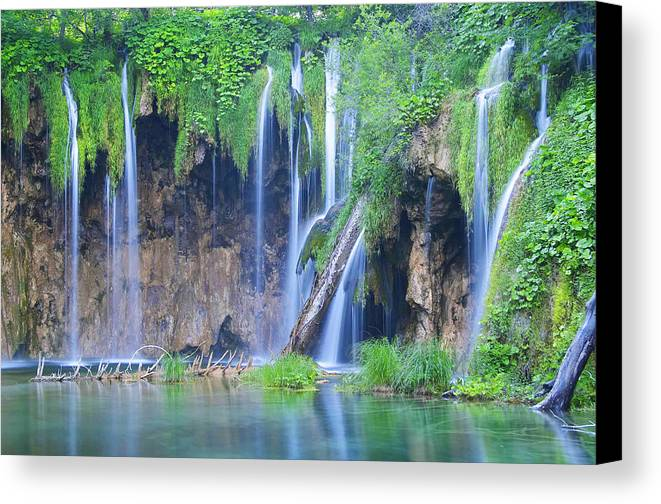 Plitvice Canvas Print featuring the photograph Plitvice by Elisa Locci