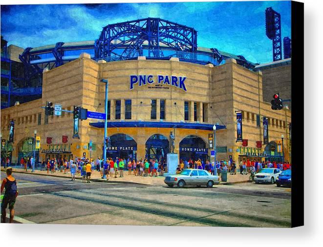 Canvas Print featuring the photograph Pnc Park by Matt Matthews