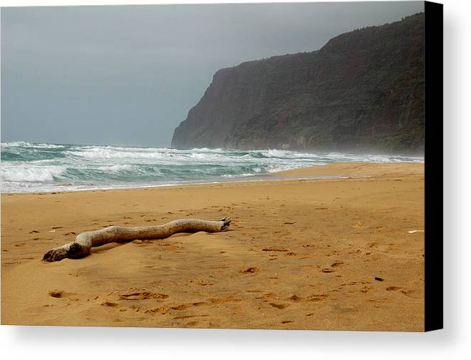 Beach Canvas Print featuring the photograph Polihale State Park by Kathy Schumann