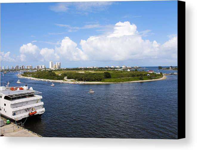 Ocean Canvas Print featuring the photograph Port Roundabout by Stephen Crosson