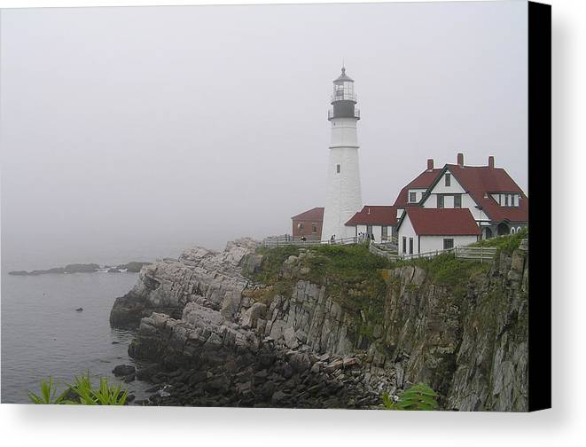 Lighthouse Canvas Print featuring the photograph Portland Head Light by Sandra Bourret