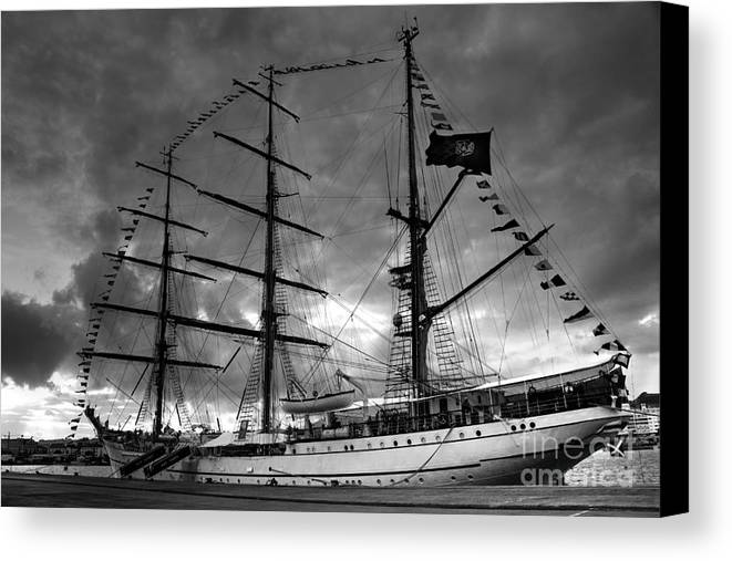 Brig Canvas Print featuring the photograph Portuguese Tall Ship by Gaspar Avila