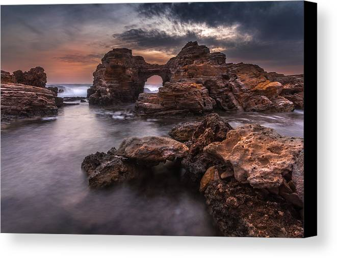 Afternoon Canvas Print featuring the photograph Poseidon's Sculptures by Mike Drosos