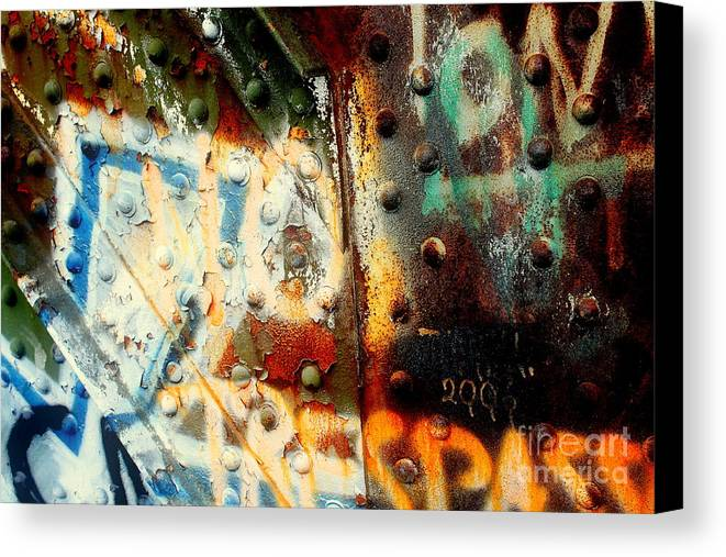 Aged Canvas Print featuring the photograph Post Industrial by Farzali Babekhan