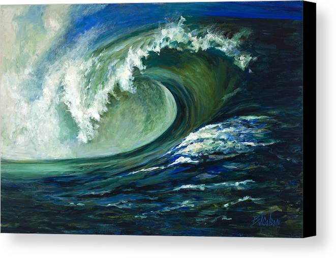 Waves Canvas Print featuring the painting Power by Billie Colson