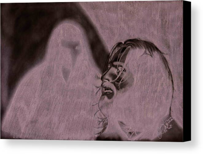 Portrait Canvas Print featuring the drawing Prayer by Jason McRoberts