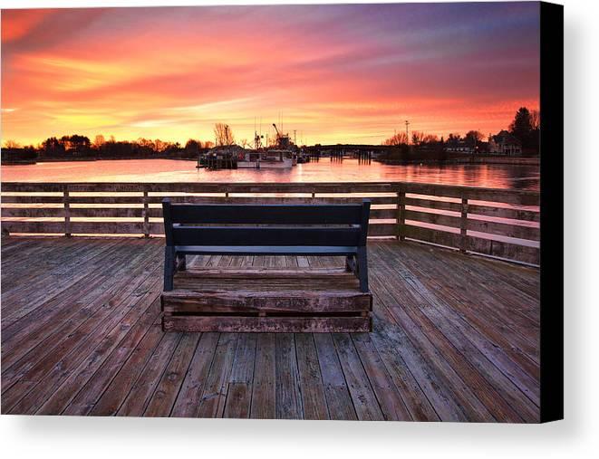 Prescott Pier Canvas Print featuring the photograph Prescott Pier by Eric Gendron