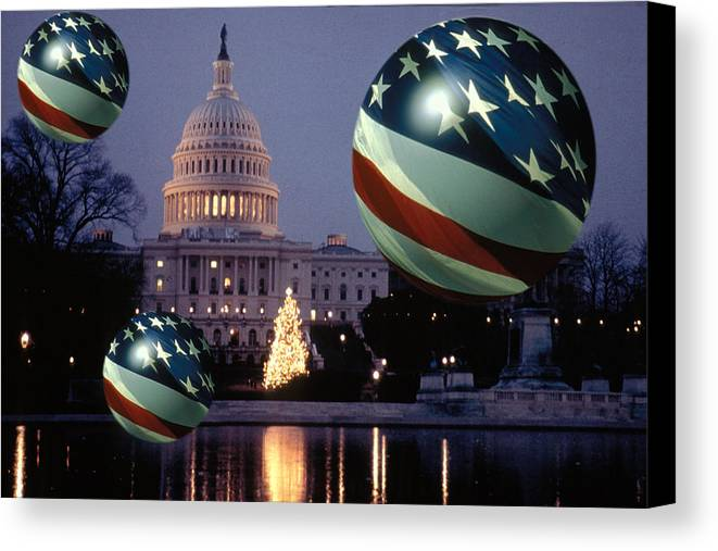 American Canvas Print featuring the photograph Presidential Balls by Carl Purcell